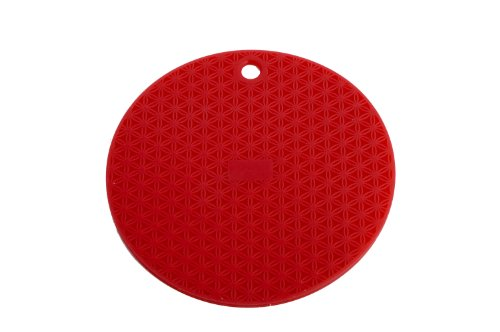 MIU France Round Silicone Trivet, Red