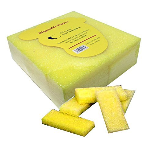 40pc Coarse CT Mini Disposable Pumice Pads -Yellow