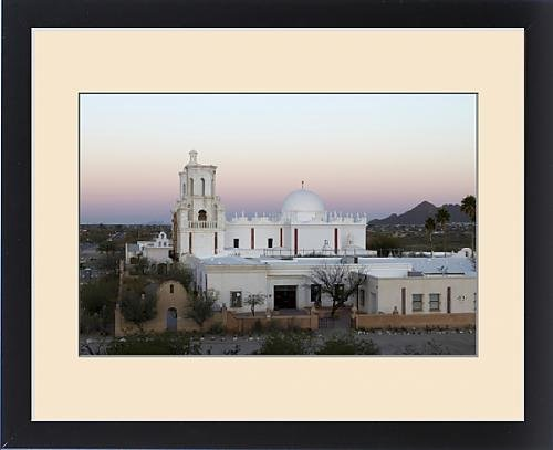Framed Print of USA, Arizona. Mission San Xavier del Bac, a historic Spanish Catholic mission by Fine Art Storehouse