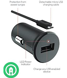 Turbo Fast Powered 15W Car Charger works with Motorola Moto G6 Play includes Detachable Hi-