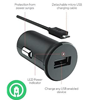 Turbo Fast Powered 15W Car Charger works with Bose QuietComfort 35 includes Detachable Hi-Power MicroUSB Cable!