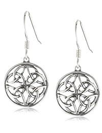 Celtic-Knot Round Drop Earrings