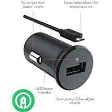 Turbo Fast Powered 15W Maxwest TAB 7155 Tablet Car Charger with Detachable Hi-Power MicroUSB Cable!