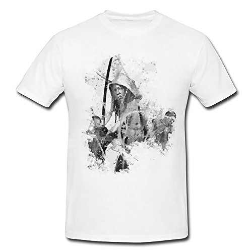 The Walking Dead Michonne-(2) T-Shirt Herren, weiß mit Aufdruck