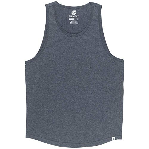 Element Men's Basic Emby Tank Top Charcoal Heather - Cotton Tank Top Element