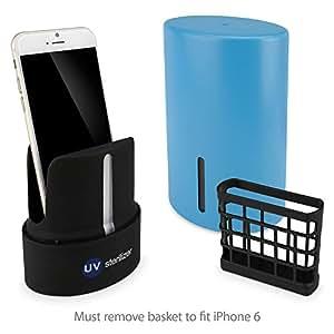 Nuevo comienzo BoxWave ASUS Zenfone 6 UV germicida - desinfectante de teléfono para aspiradora portátil compatible con Smartphones, MP3 reproductores, Auriculares, auriculares y más! (azul)