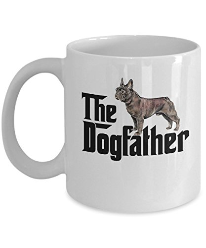 The dogfather mug, dog father french bulldog dad mug,dog, used for sale  Delivered anywhere in USA