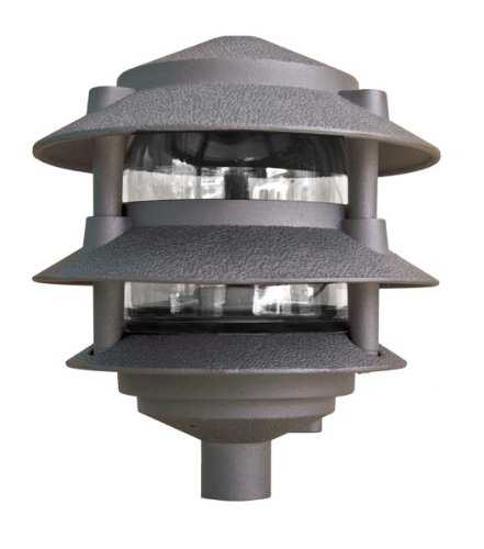 Dabmar Lighting D5000-BZ Pagoda Fixture 3 Tier Incand 120V Light, Bronze Finish