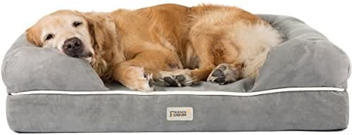 Orthopedic Dog Bed Lounge Sofa Removable Cover 100% Suede 4