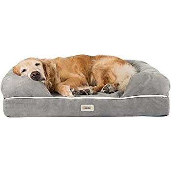Friends Forever Memory-Foam Orthopedic Dog Bed 100% Suede Removable Cover 4