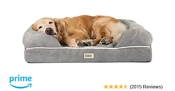 Friends Forever Orthopedic Dog Bed Lounge Sofa Removable Cover 100% Suede  2.5\