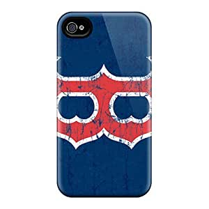 Rewens Snap On Hard Case Cover Boston Red Sox Protector For Iphone 4/4s