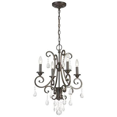 Hampton Bay 4-light Oil Rubbed Bronze Small Crystal Chandelier