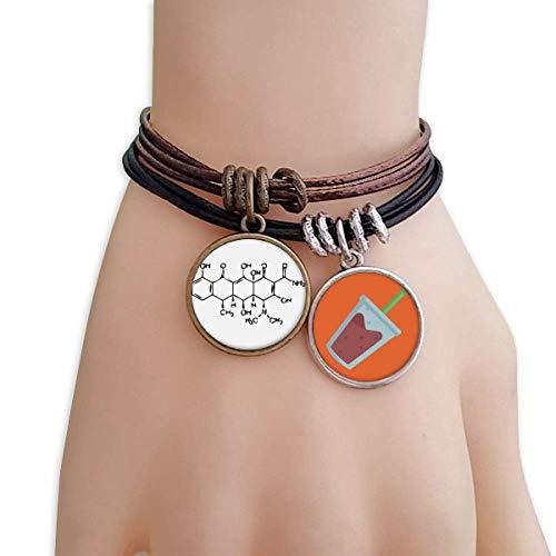 DIYthinker Molecular Organic Chemistry Atomic Structure Bracelet Rope Juice Wristband ()