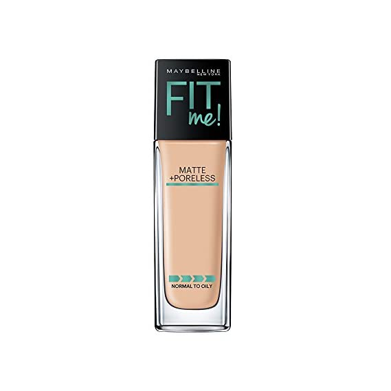 Maybelline New York Fit Me Matte+Poreless Liquid Foundation (With Pump), 128 Warm Nude, 30ml