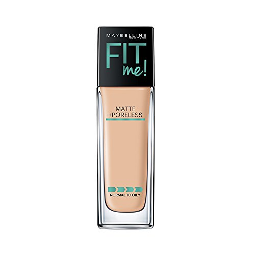 Maybelline New York Fit Me Matte + Poreless Liquid Foundation Makeup, Warm Nude, 1 fl. oz. Oil-Free Foundation