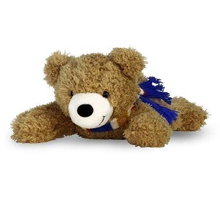 Kinder /& Babys ab 3 Monaten Pl/üschtier f/ür Erwachsene Energie B/är/® Benny liegend Allergiker Stofftier mit energetischer // harmonisierender Wirkung zum kuscheln 20cm, braun