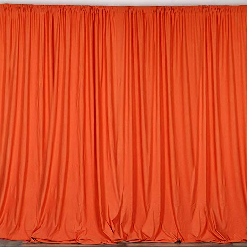 AK TRADING CO. 10 feet x 10 feet Polyester Backdrop Drapes Curtains Panels with Rod Pockets - Wedding Ceremony Party Home Window Decorations - Orange ()