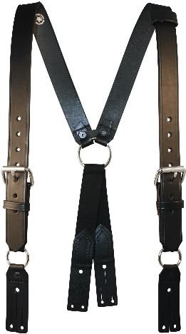 9175-1 Boston Leather Firemans Leather Suspenders