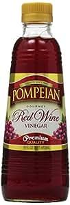 Pompeian Red Wine Vinegar, 16 oz