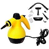 Goplus Handheld Multi-purpose Pressurized Steam Cleaner, Sanitizer, Steamer, Steam Iron, 1050W, W/Attachments