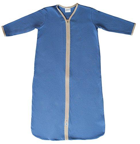 CastleWare Baby Organic Rib Knit Sleeper Bag- Long Sleeve- Newborn-XXL (XXL 18-36 Mos, Periwinkle) by CastleWare Baby