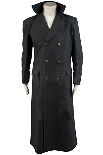 Sherlock Holmes Benedict Cumberbatch Cape Wool Winter Jacket Woolen Trench Coat (XX-Large) - Sherlock Outfit