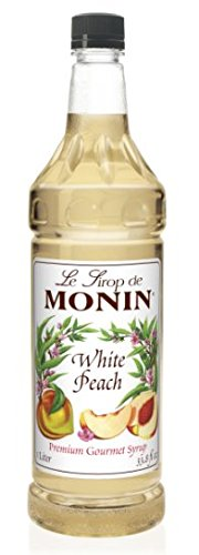 Monin Flavored Syrup,White Peach, 33.8-Ounce Plastic Bottle (1 - Tea Monin Raspberry
