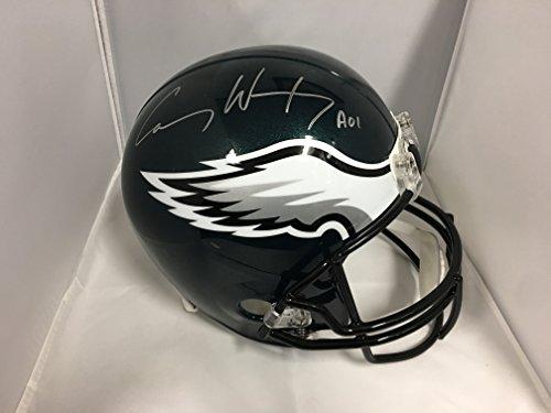 Carson Wentz Signed Autographed Philadelphia Eagles Full Size Helmet COA & Hologram (Helmets Philadelphia Autographed Eagles)