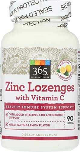 365 Everyday Value, Zinc Lozenge with Vitamin C, 90 ct