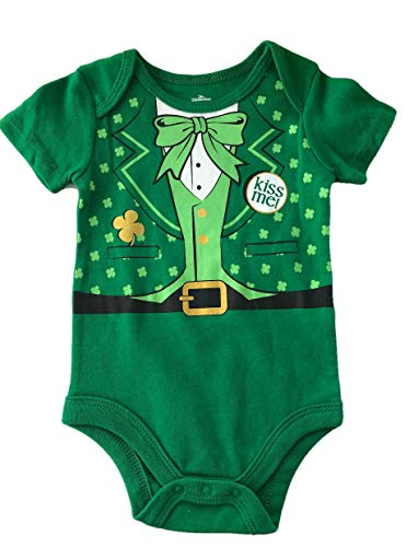 Celebrate St. Patricks Day Baby Bodysuit for Boys and Girls (Leprechaun Kiss Me Suit, -