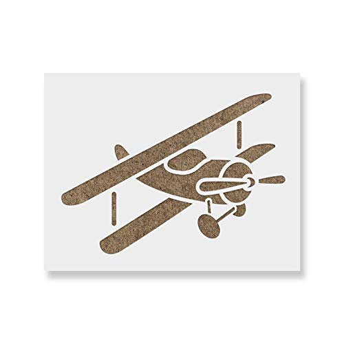 Airplane Stencil Template for Walls and Crafts - Reusable Stencils for Painting in Small & Large Sizes (Best Paper Airplane Template)