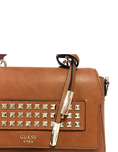 Guess shoulder shoulder Brown bag studded bag TOP MORITZ wffqtHPr