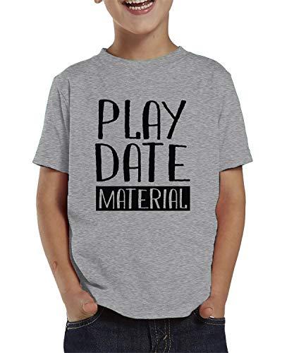 SpiritForged Apparel Playdate Material Toddler T-Shirt, Light Gray 3T