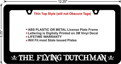 Pirates of The Caribbean The Flying Dutchman Custom License Plate Frame (Metal Frame)