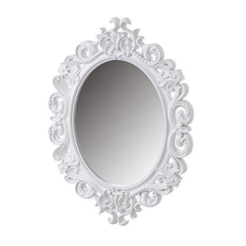 Espejo Cornucopia clasico Blanco de Polipropileno de 80x60 cm - LOLAhome