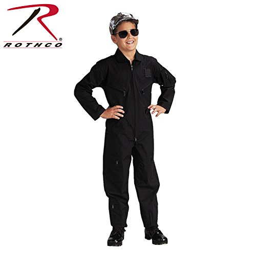 Rothco Kids Flight Coverall - Black, M Size