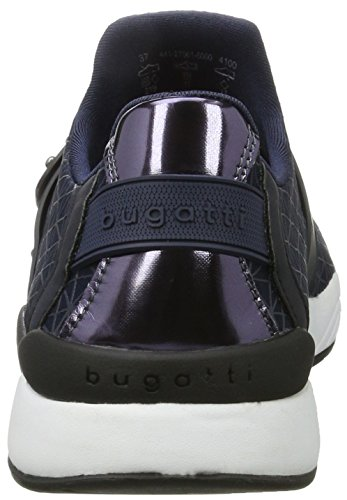 Bugatti Ladies 441270616000 Sneaker, Nero (nero 1000) Blu (blu Scuro)