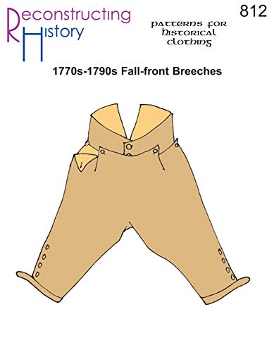 (1770s-1790s Fall-front Breeches Pattern)