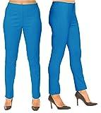 Lior Paris SASHA Essential Slim Fit Ankle Pant (6,Ocean)
