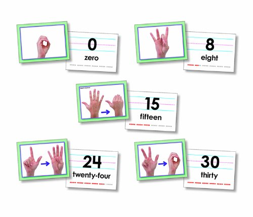- * AMERICAN SIGN LANGUAGE CARDS NUMBER