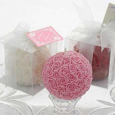 QINF Rose Ball Candle Favor(white) (Rose Ball Candle)
