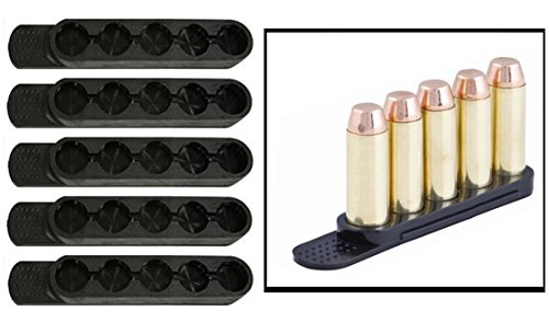 Ultimate Arms Gear 7MM .375 H&H .300 WIN MAG .45 AUTO RIM - Pack of 5 QuickStrips 5 Rd Round - Quick Reusable Swift Speed Easy Reload Loader Snub Fit Stripper Strips Clips