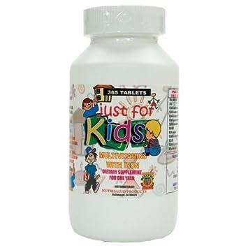 Vitaminas para nios Just for Kids. Suplemento para todo un ao.Vitaminas y Minerales