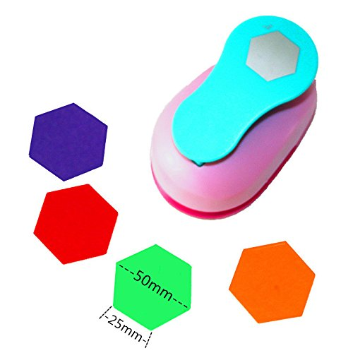 CADY Crafts Punch 2-Inch Paper Punches Craft Punches hexagon