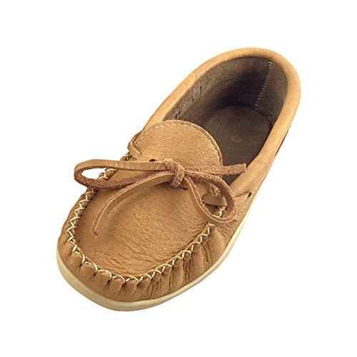 Laurentian Chief Women's Moosehide Leather Loafer Moccasin Shoes (5) ()