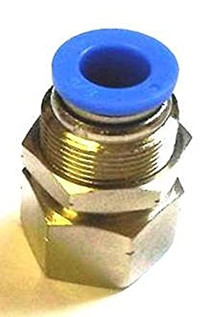 3//8 OD 1//8 NPT 3//8 OD MTMF 3//8-N01-10PK MettleAir MTMF 3//8-N01 Push to Connect Straight Bulkhead Female Fitting Pack of 10 1//8 NPT Pack of 10