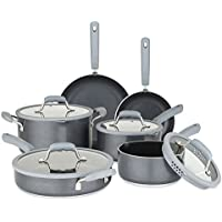 Chopped 10-Piece Nonstick Cookware Set w/ Silicone Strainer Lids