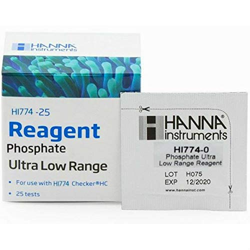 Hanna Instruments HI774-25 Phosphate Ultra Low Range Checker HC Reagents (25 Tests) by wwG Store ()