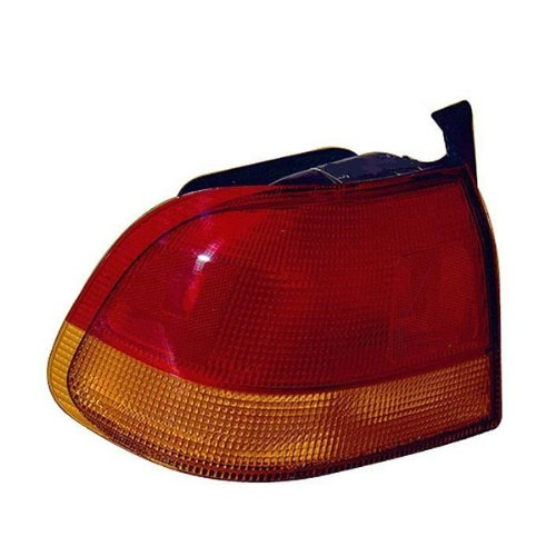 1996-1997-1998 Honda Civic 4-Door Sedan Rear Brake Taillight Taillamp Tail Light Lamp (Quarter Panel Outer Body Mounted) Left Driver Side (96 97 ()